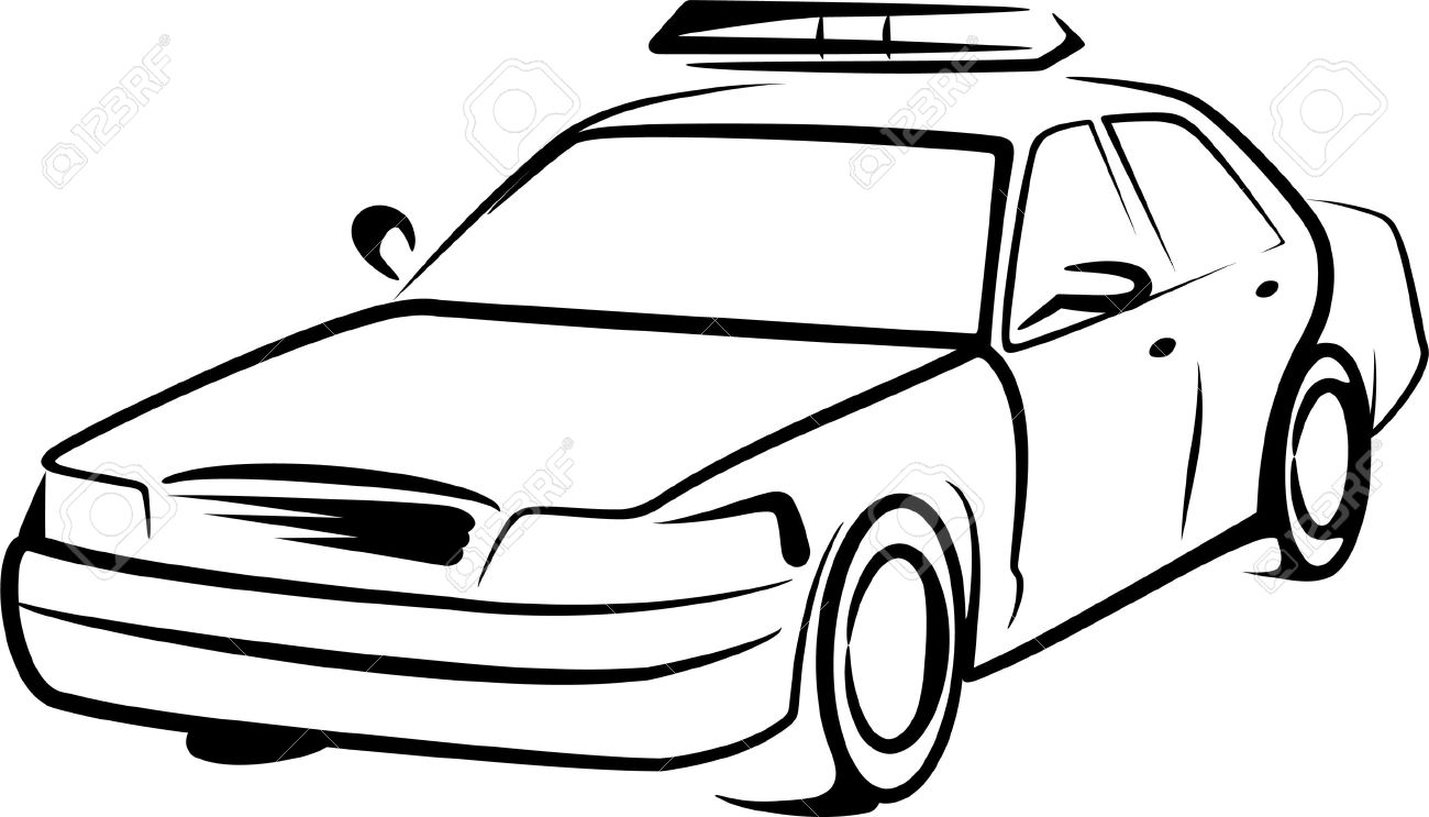 1300x743 Police Car Royalty Free Cliparts, Vectors, And Stock Illustration