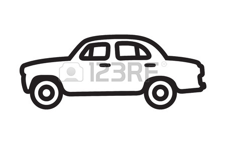 450x287 Car Vector Outline Icon Royalty Free Cliparts, Vectors, And Stock