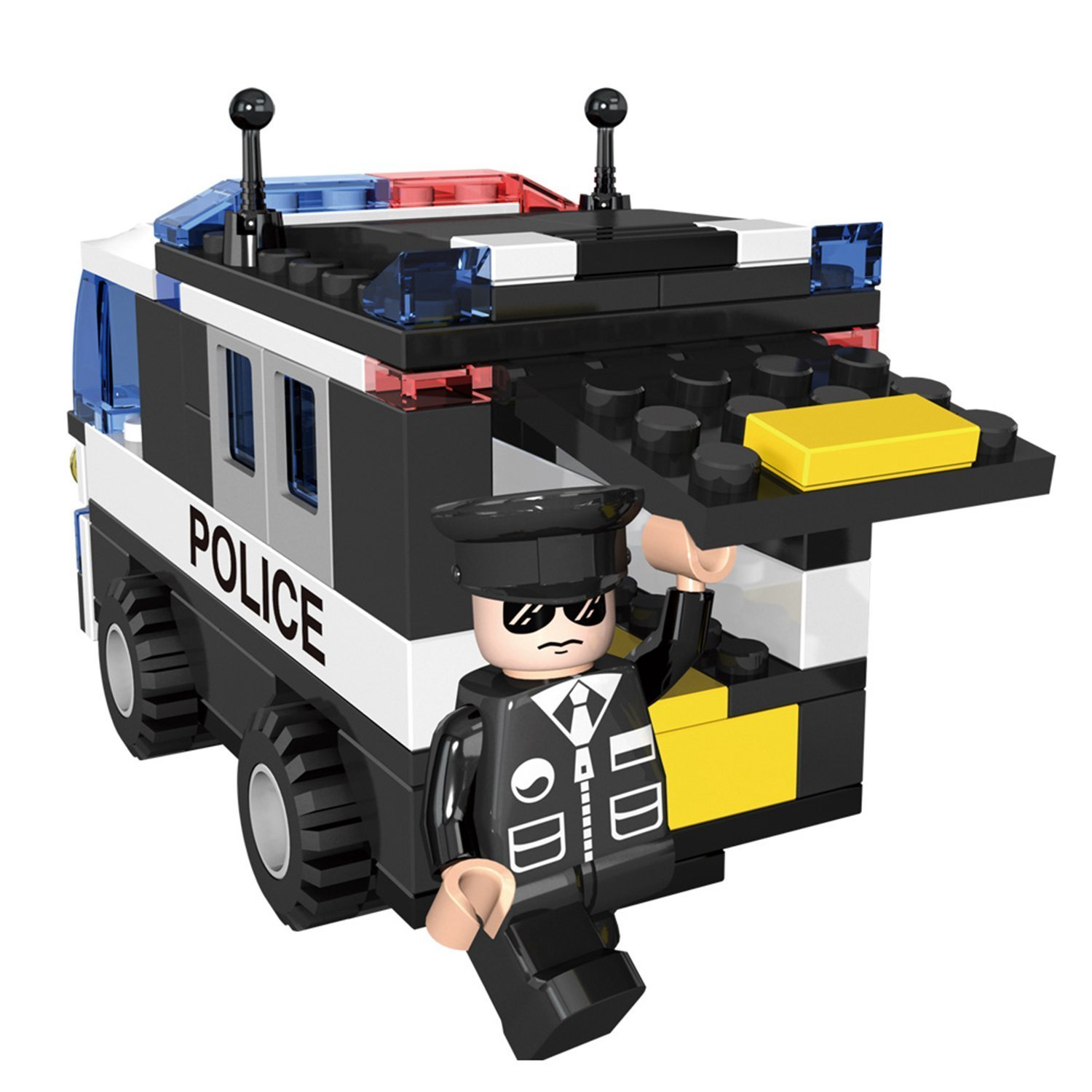 1500x1500 Cogo Police Car Vehicle Truck Toy With Policeman Dolls Cruiser