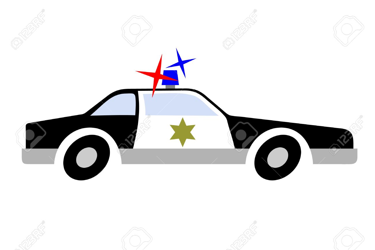 1300x867 Drawing Police Car Royalty Free Cliparts, Vectors, And Stock