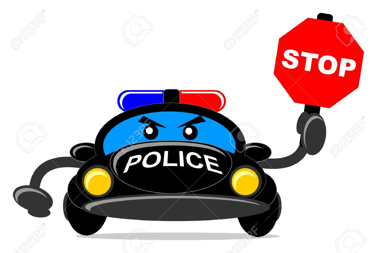 1300x871 Illustration Of Cartoon Police Car Royalty Free Cliparts, Vectors