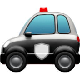 256x256 Police Car Emoji U 1f693