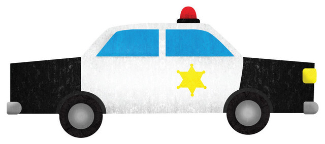 640x284 Police Car Wall Sticker Decal