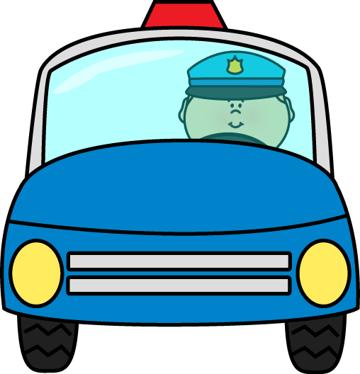 508x528 Police Officer Driving Police Car Clip Art