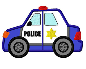 340x270 Police Car Applique Etsy