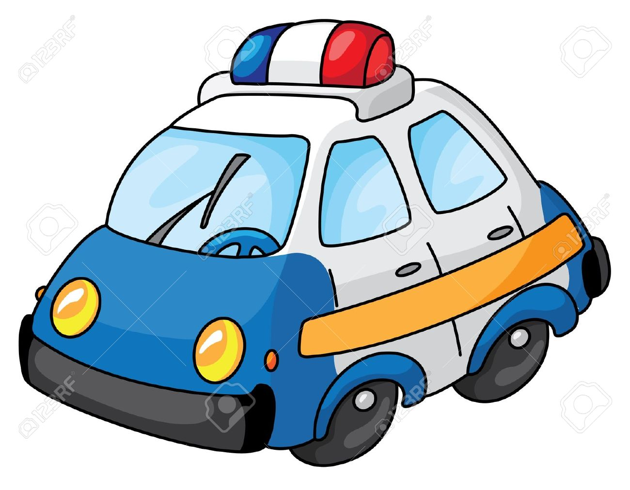 1300x1012 Police Car Cartoon Clipart