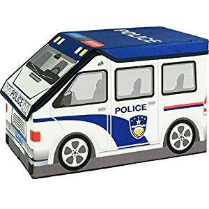 300x300 2 In 1 Police Car Children's Toy And Storage Box