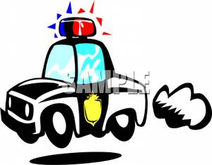 300x234 On A Police Car Clipart Picture