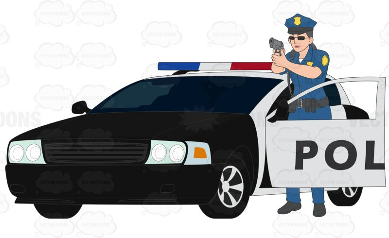 800x490 Female Police Officer Standing Outside The Door Of A Police Car