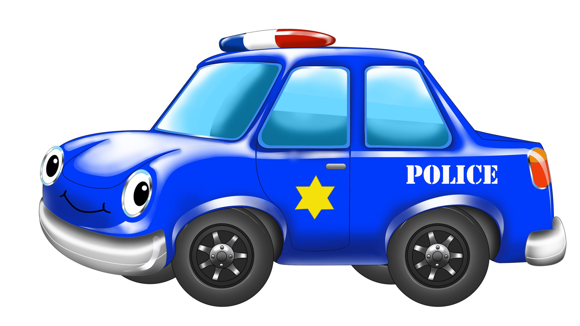 1920x1080 Police Car Blue Car Wash