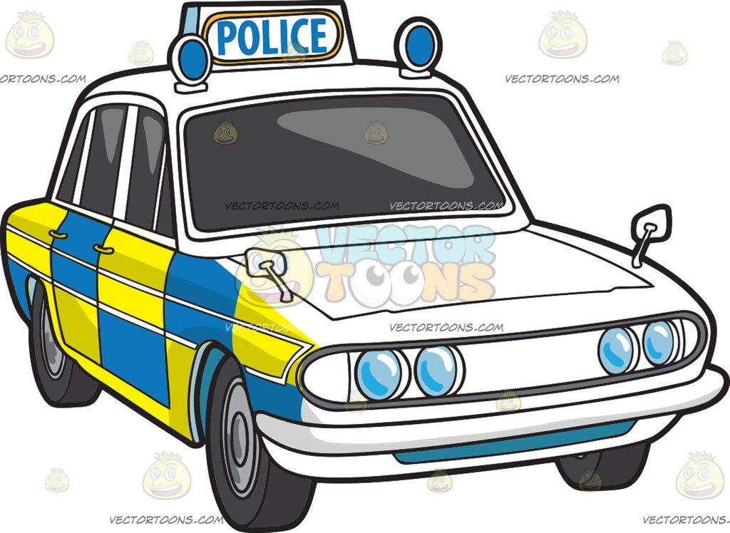1024x748 A British Police Car Cartoon Clipart