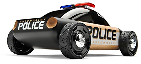450x205 Automoblox S9 Police Car, Black Toys Amp Games