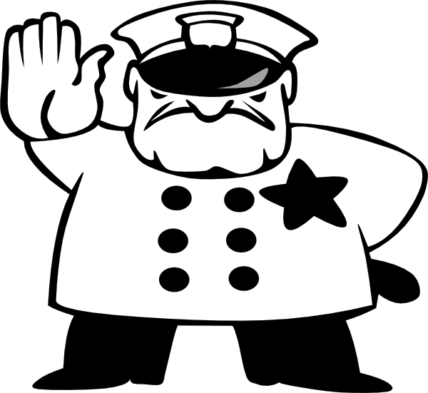 600x551 Policeman Black And White Clip Art