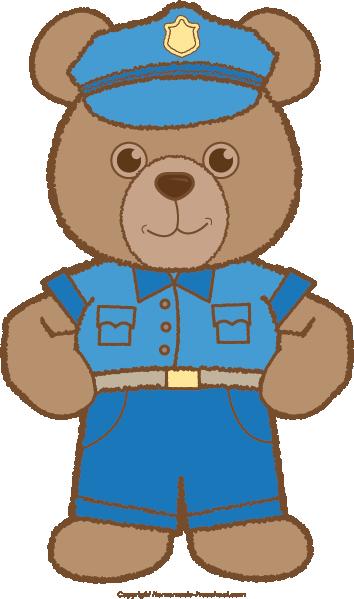 354x599 Bear Clipart Police