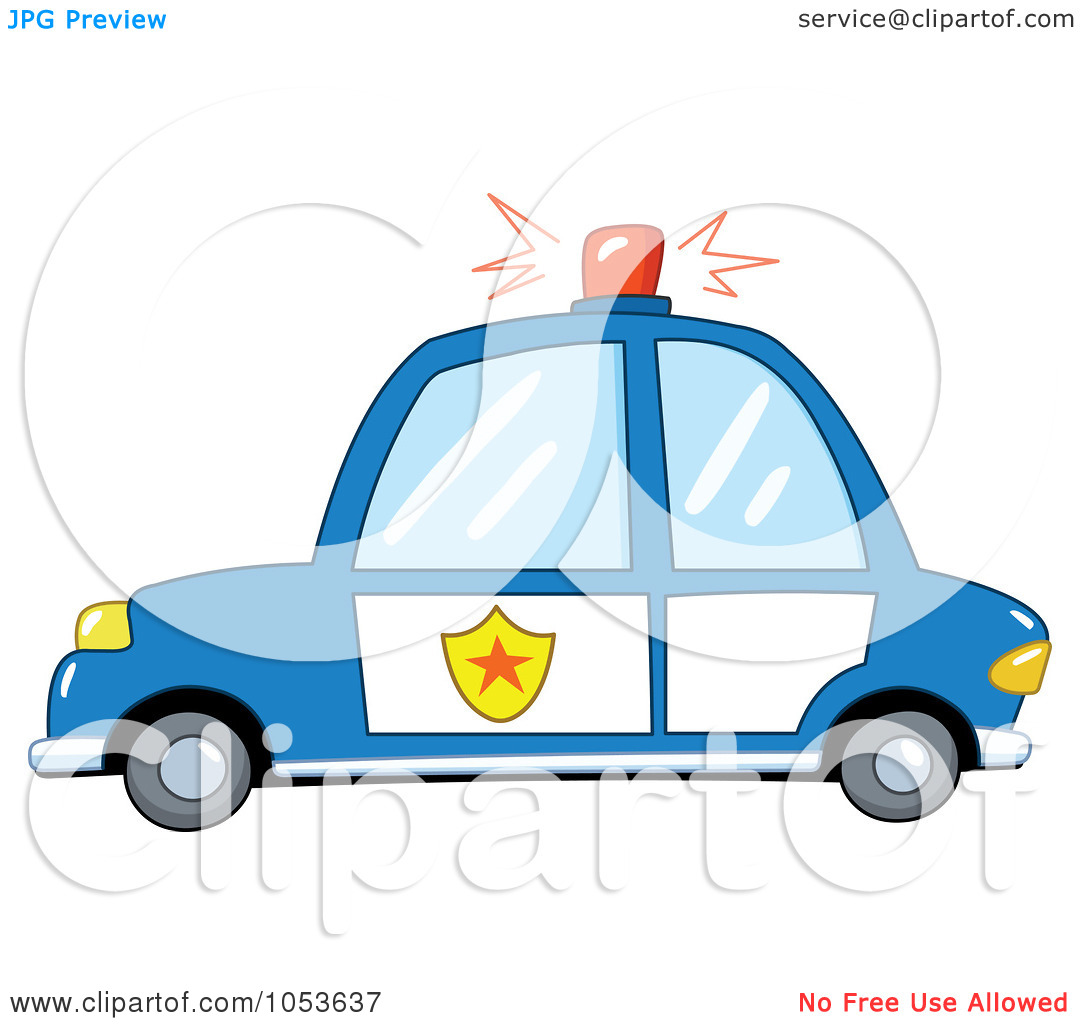 1080x1024 Blue Police Car Clipart