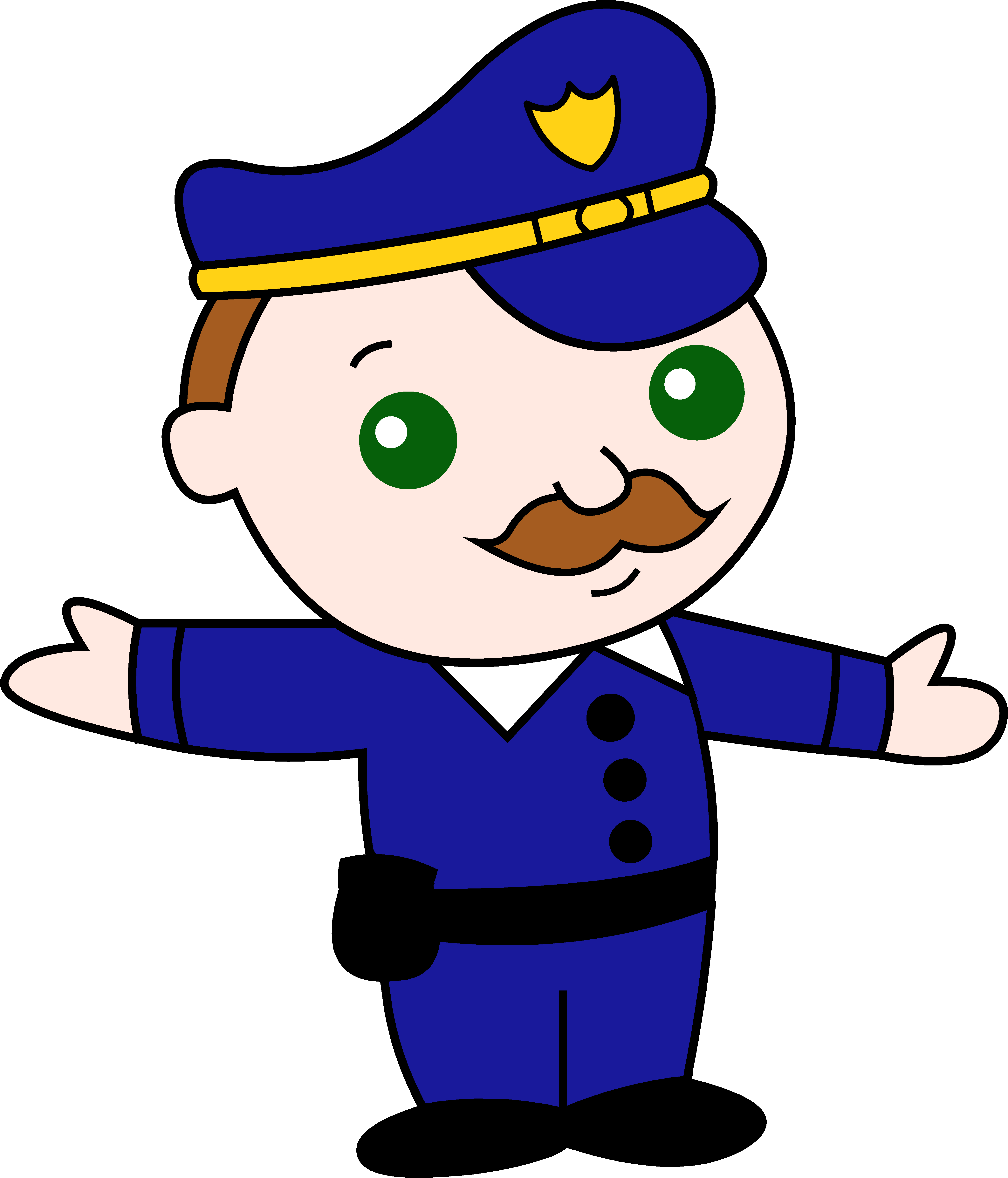 5187x6062 Little Policeman Cartoon