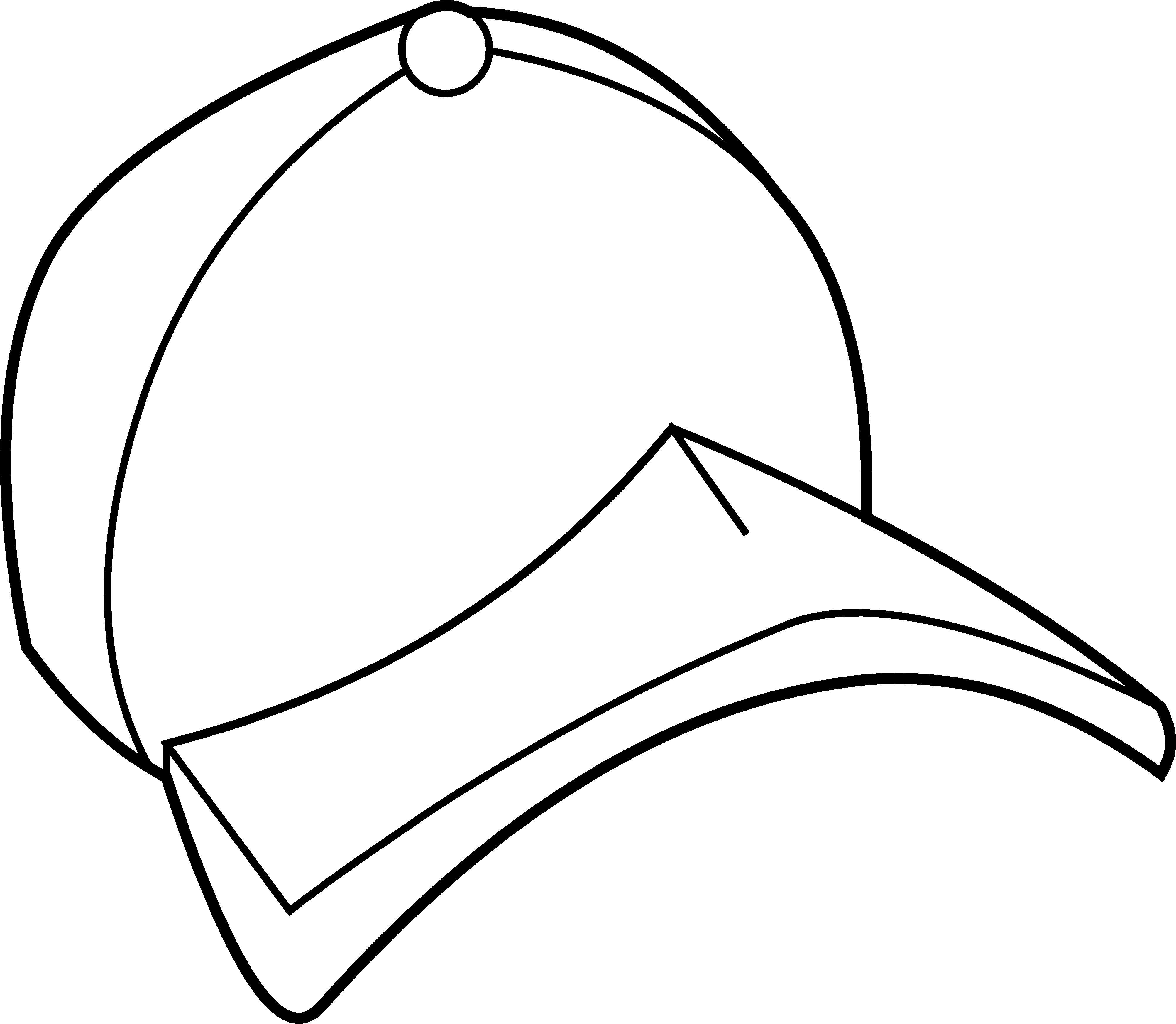 4009x3489 Baseball Hat Baseball Cap Coloring Page Free Clip Art