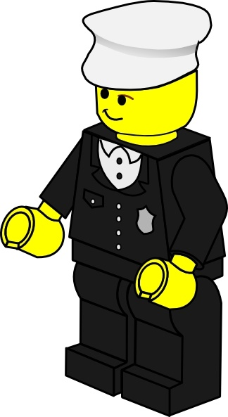 324x593 Lego Town Policeman Clip Art Free Vector In Open Office Drawing