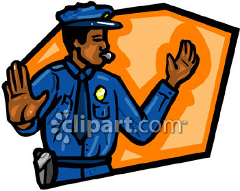 350x278 Policeman Directing Traffic Clip Art