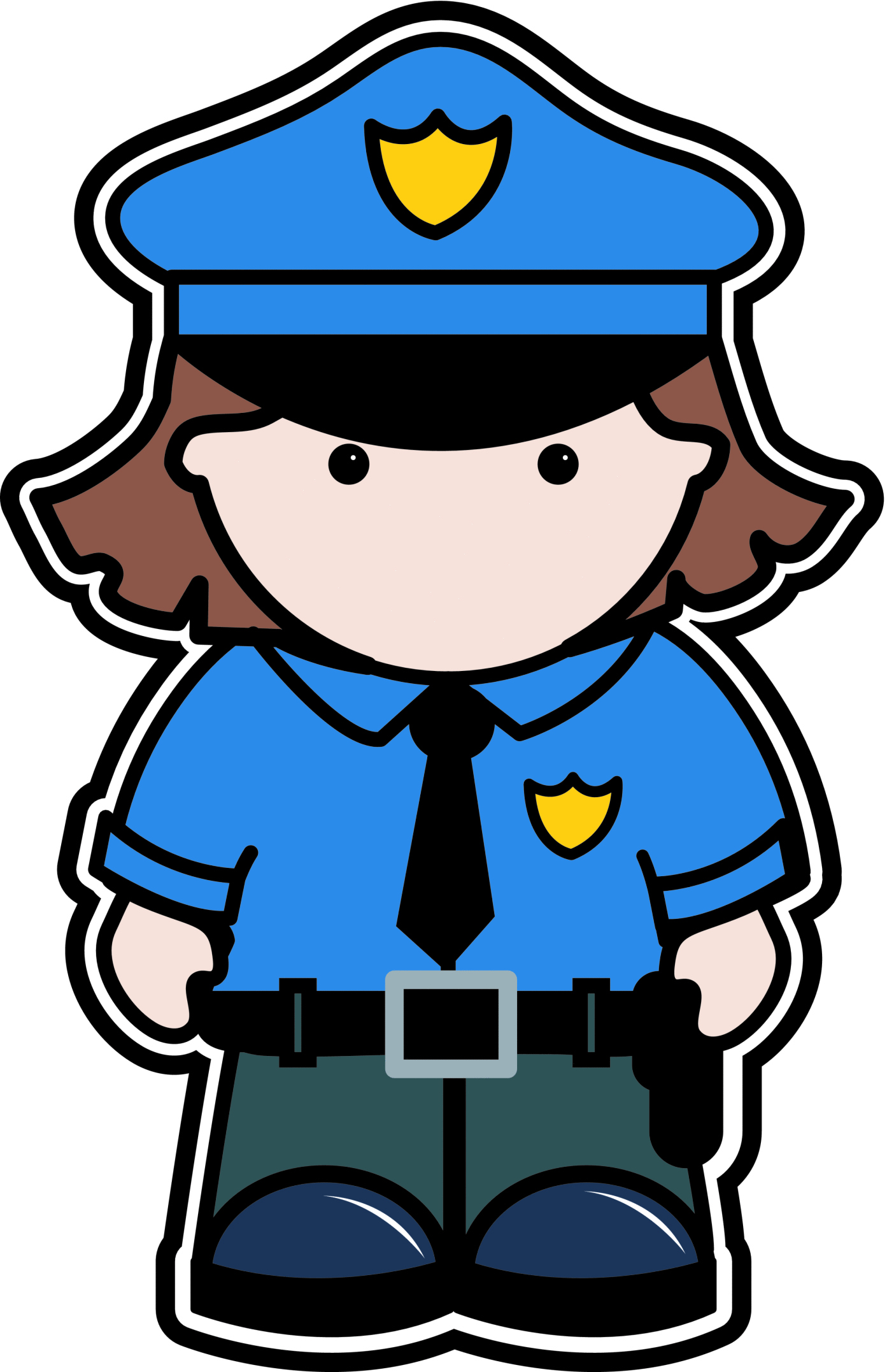 1393x2153 Policeman Helping Lady Free Clipart