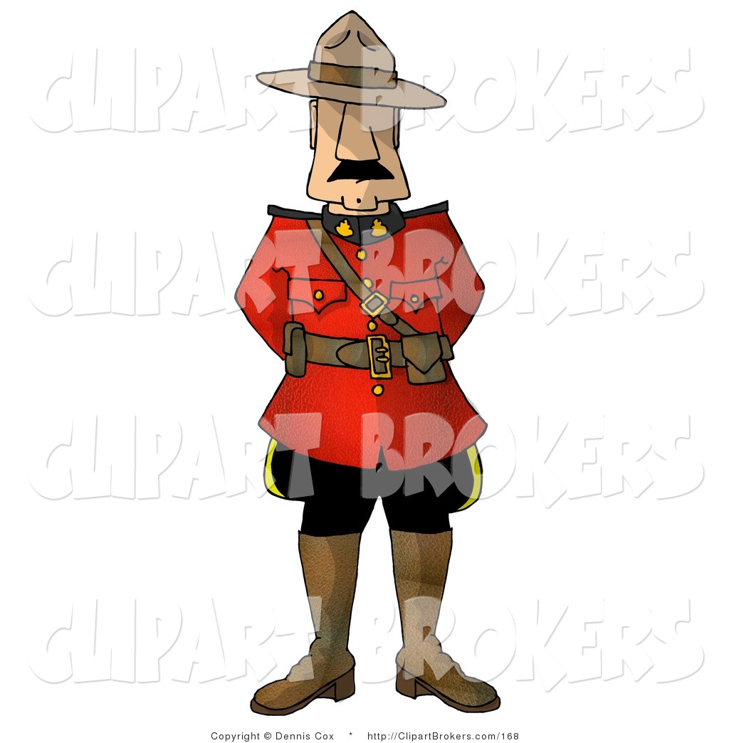 1024x1044 Clip Art Of A Rcmp Royal Canadian Mounted Police Officer By Djart
