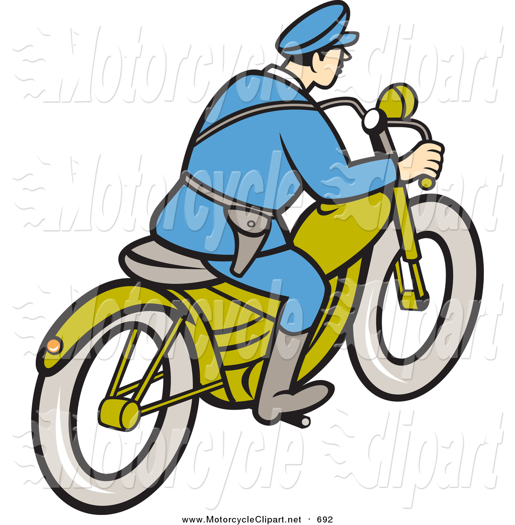 1024x1044 Transportation Clipart Of A Rear View Of A Cartoon Highway Patrol