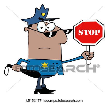 450x425 Clip Art Of African Traffic Police Officer K5152477