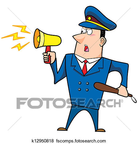 450x470 Clip Art Of Male Cartoon Police Officer K12950818