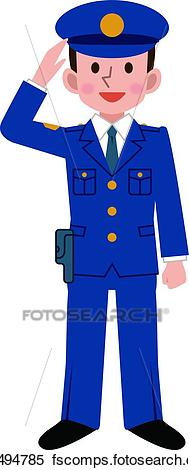 189x470 Clipart Of Police Officer K18494785