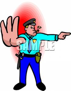 233x300 Police Officer Directing Traffic Clipart Picture