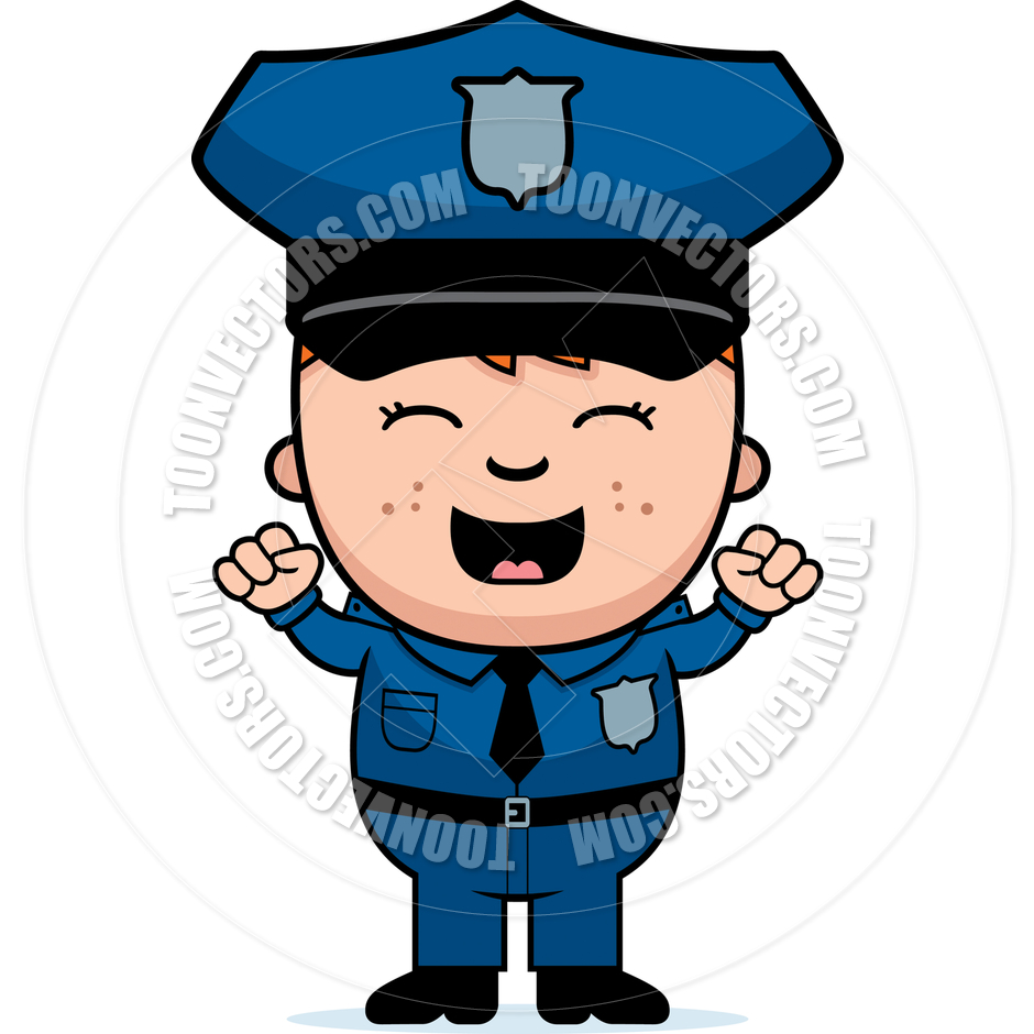 940x940 Police Officer Excited By Cory Thoman Toon Vectors Eps