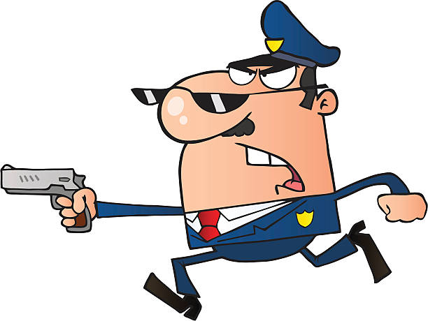 612x460 Police Running Clipart