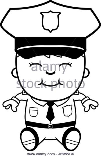 348x540 Cartoon Illustration Police Officer Boy Stock Photos Amp Cartoon