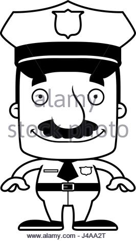 266x470 A Cartoon Illustration Of An Police Officer With A Mustache Stock