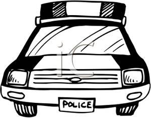 300x234 Police Officer Car Clipart