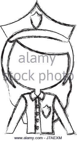 257x470 Woman Police Officer Avatar Character Stock Vector Art