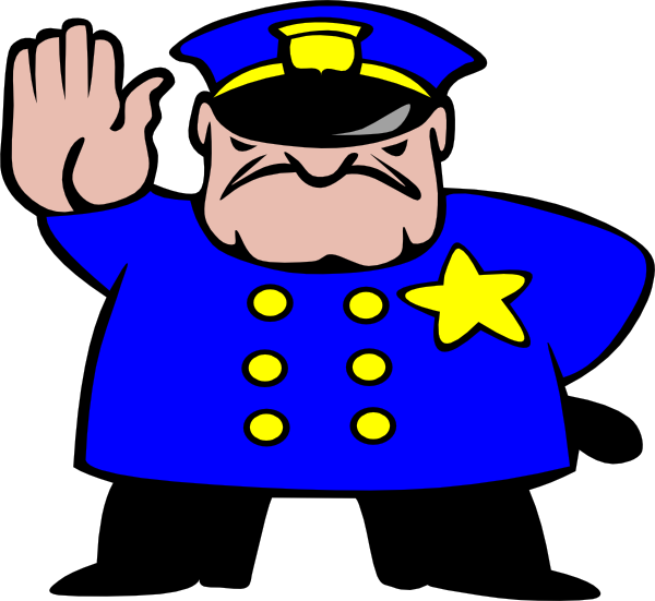 600x551 No Police Officer Hat Clipart