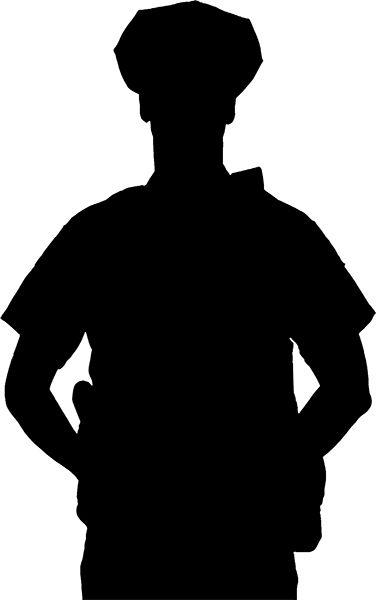 376x600 Police Officer Silhouette Clip Art