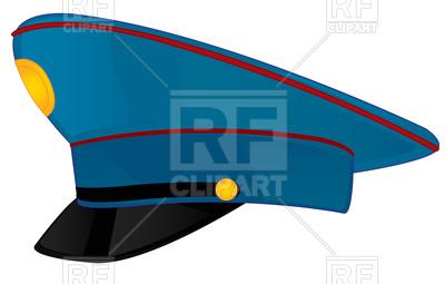 400x255 Police Cap Royalty Free Vector Clip Art Image