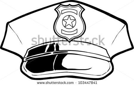450x291 Police Hat Clip Art Black And White Clipart