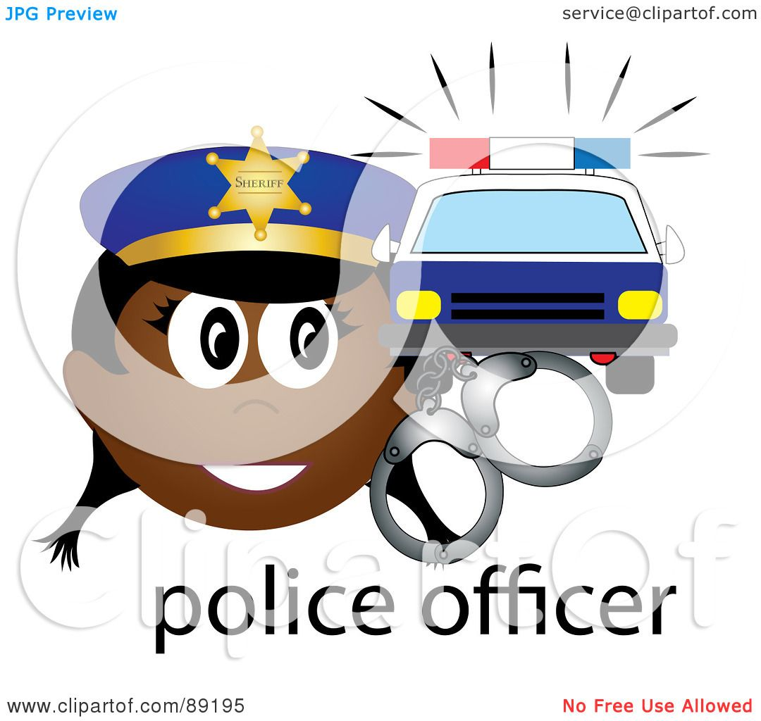 1080x1024 Royalty Free (Rf) Clipart Illustration Of A Female African Police