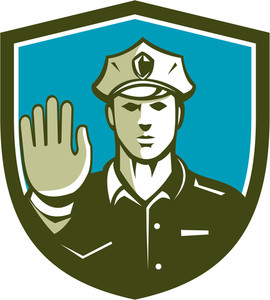 270x300 Illustration Of A Traffic Policeman Police Officer Holding Hand Up
