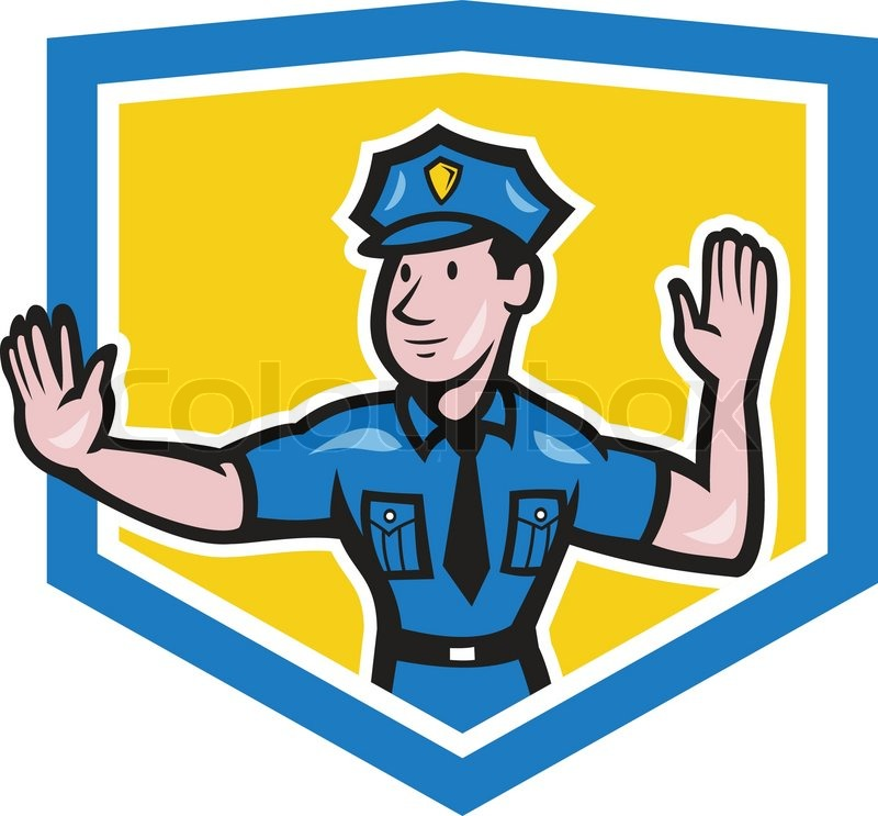 800x743 Illustration Of A Traffic Policeman Police Officer Making A Stop