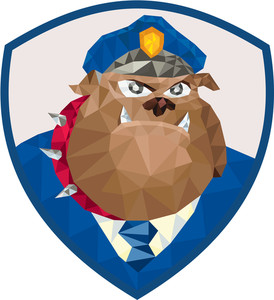 274x300 Low Polygon Style Illustration Of A Bulldog Policeman Police