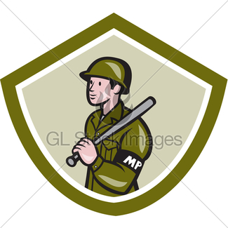 325x325 Policeman Police Officer Baton Shield Retro Gl Stock Images