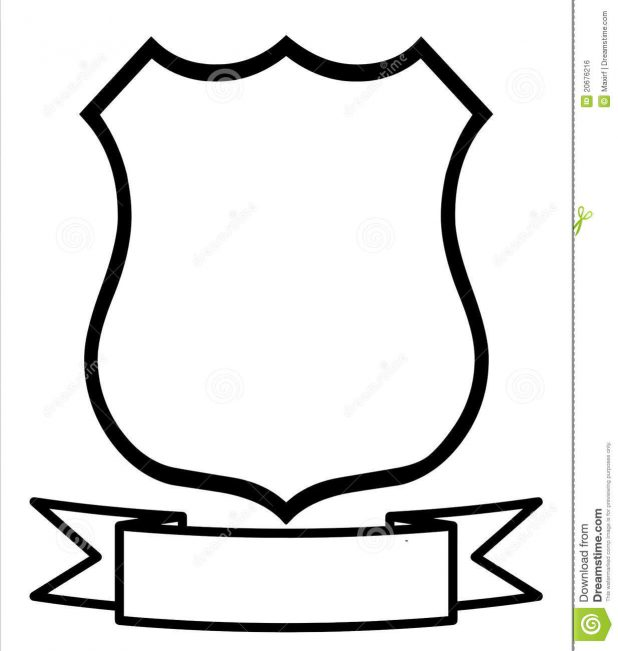 618x651 Adult Police Badge Template Police Badge Design Template. Police