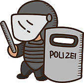 170x169 Clip Art Of Male Cartoon Police Officer K12950929
