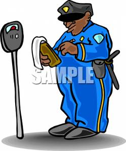 249x300 Police Officer Writing A Parking Ticket Clipart Picture