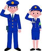140x170 Police Officers Clip Art