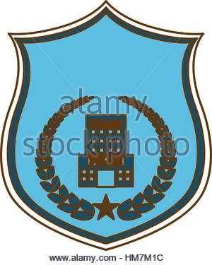 300x375 Gold Police Badge Icon Image, Vector Illustration Stock Vector Art